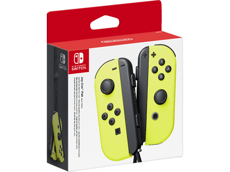 NINTENDO Switch Joy-Con 2er-Set Controller, Schwarz/Neon-Gelb