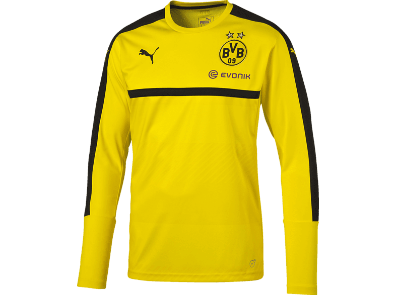 PUMA BVB 09 Dortmund Trainingsjersey, Gelb-Schwarz