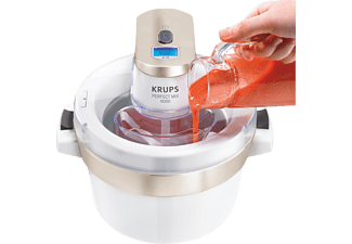 KRUPS Perfect Mix 9000 Ice Cream Maker GVS241 - Blanc - Sorbetière (Chromé/blanc)