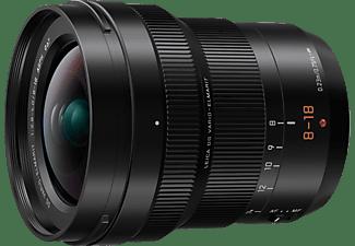 PANASONIC H-E08018 Lumix G LEICA 8 mm - 18 mm f/2.8-4 DG (Objektiv für Micro-Four-Thirds, Schwarz)