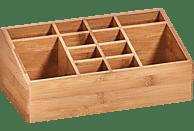 ZELLER 25385 Bamboo 12 Fächer Aufbewahrungskasten