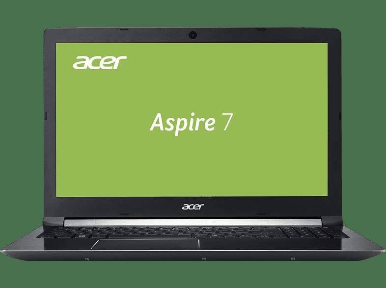 ACER Aspire 7 (A715-71G-51KX), Gaming Notebook mit 15.6 Zoll Display, Core™ i5 Prozessor, 8 GB RAM, 1 TB HDD, GeForce® GTX 1050, Schwarz