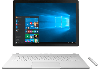 MICROSOFT Surface Book, Convertible mit 13.5 Zoll Display, Core™ i7 Prozessor, 16 GB RAM, 1 TB SSD, GeForce Graphics, Silber