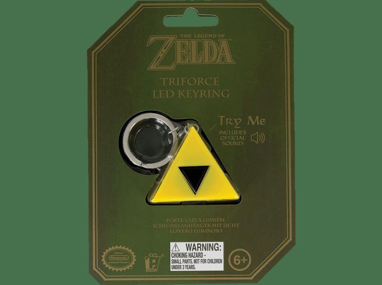 PALADONE PRODUCTS Zelda Triforce Schlüsselanhänger mit Taschenlampe Schlüsselanhänger, Gelb