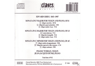Jean-jacques Dunki Ingolf Turban - Die drei Violinsonaten  - (CD)