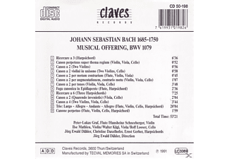 Jorg Ewald Dahler - Musikalisches Opfer  - (CD)