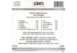 DIMITRI, NINA/FRIAS, JULIO LAVAYEN, Nina Dimitri - Music from Bolivia  - (CD)