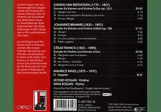 Leonid Kogan, Nina Kogan - Violinsonaten op.12,1/op.108/A-Dur/Tzigane  - (CD)