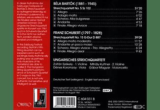 Ungarisches Streichquartett, VARIOUS - Streichquartette D 887/No.5 Sz 102  - (CD)