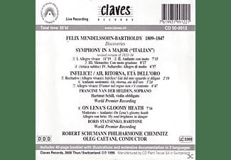 Robert Schuman Philharmonie Chemnit - Discoveries.Symphonie In A/+zwei Konzertarien  - (CD)