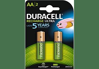 DURACELL Recharge Ultra AA Batterien 2500 mAh, 2er Pack