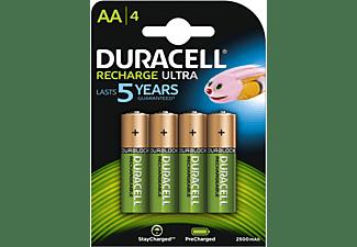 DURACELL Recharge Ultra AA Batterien 2500 mAh, 4er Pack