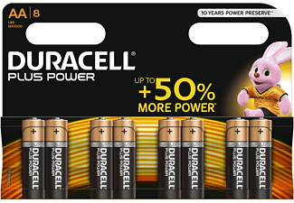 DURACELL Plus Power Alkaline AA Batterien, 8er Pack (LR6/MN1500)