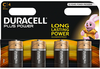 DURACELL Plus Power Alkaline C Batterien, 4er Pack (LR14/MN1400)