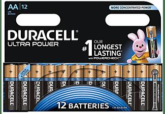 DURACELL Ultra Power Alkaline AA Batterien, 12er Pack (LR6/MX1500)