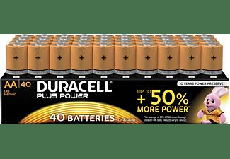 DURACELL Plus Power Alkaline AA Batterien, 40er Pack (LR6/MN1500)