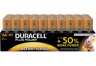 DURACELL Plus Power Alkaline AA Batterien, 40er Pack (LR6/MN1500)