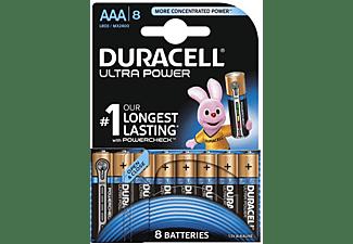 DURACELL Ultra Power Alkaline AAA Batterien, 8er Pack (LR03/MX2400)