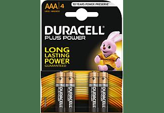 DURACELL Plus Power AAA Batterien Alkaline, 4er Pack (LR03/MN2400)