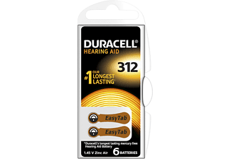 DURACELL EASY TAB 312 6ER Hörgerätebatterie