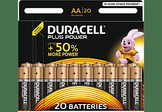 DURACELL Plus Power Alkaline AA Batterien, 20er Pack (LR6/MN1500)