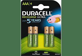DURACELL Recharge Ultra AAA Batterien 850 mAh, 4er Pack