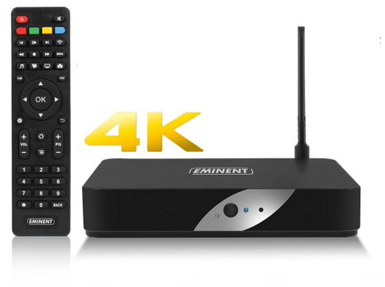 EMINENT Mediaspeler 4K TV Streamer LibreELEC Kodi (EM7680)