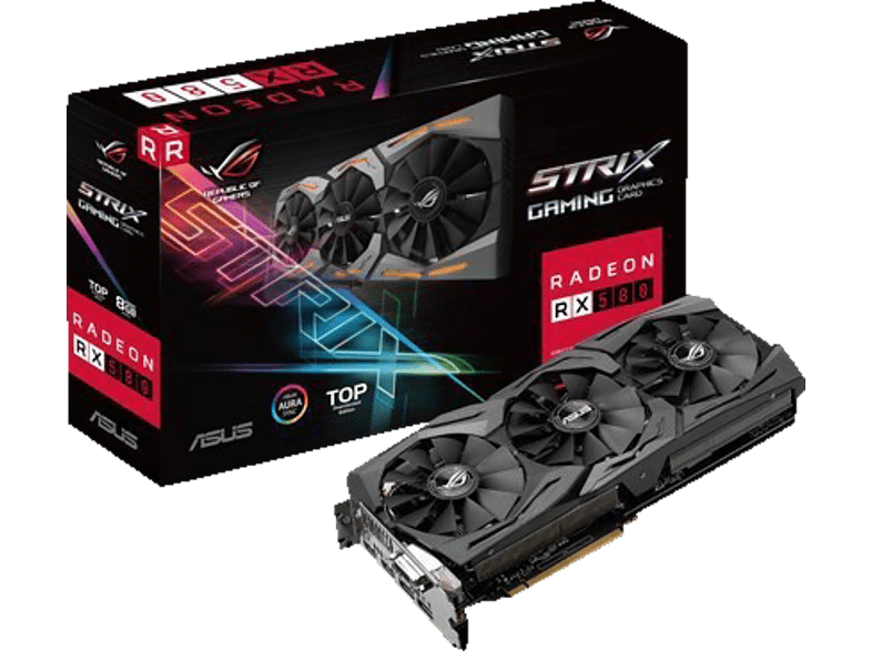 ASUS Radeon RX 580 ROG Strix TOP 8GB Gaming (90YV0AK1-M0NA00) (AMD, Grafikkarte)