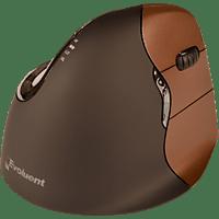 EVOLUENT Vertical Mouse 4 Small Wireless ergonomische Maus, Braun