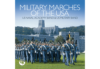 U.S.Naval Academy Band, Warner Bros Military Band - Military Marches Of The USA  - (CD)
