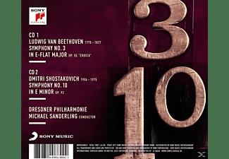 Michael Sanderling, Dresdner Philharmonie, Schostakowitsch Dmitri - Sinfonie 3/Sinfonie 10  - (CD)