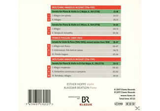 Esther Hoppe - Mozart & Poulenc-Violine & Klavier  - (CD)