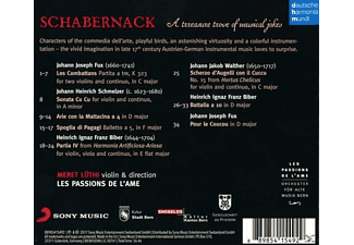 Les Passions De L'ame - Schabernack-Music by Schmelzer,Biber & Walther  - (CD)
