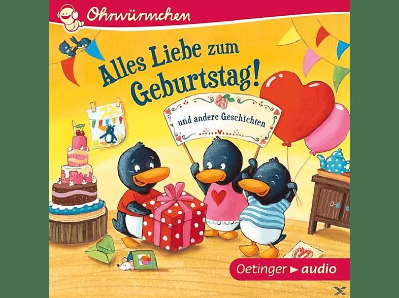 Lütje,Susanne,  Knefel,Anke,  Steffensmeier,Alexa - Ohrwürmchen - Alles Liebe zum Geburtstag! und andere Geschichten - (CD)
