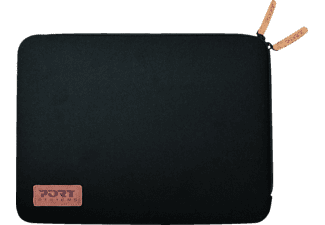 PORT TORINO Notebooktasche Sleeve für Universal Neopren/Baumwolljersey, Schwarz