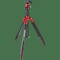 MANFROTTO MKELEB5 Element Dreibein Stativ Stativ, Rot/Schwarz, Höhe offen bis 1640 mm