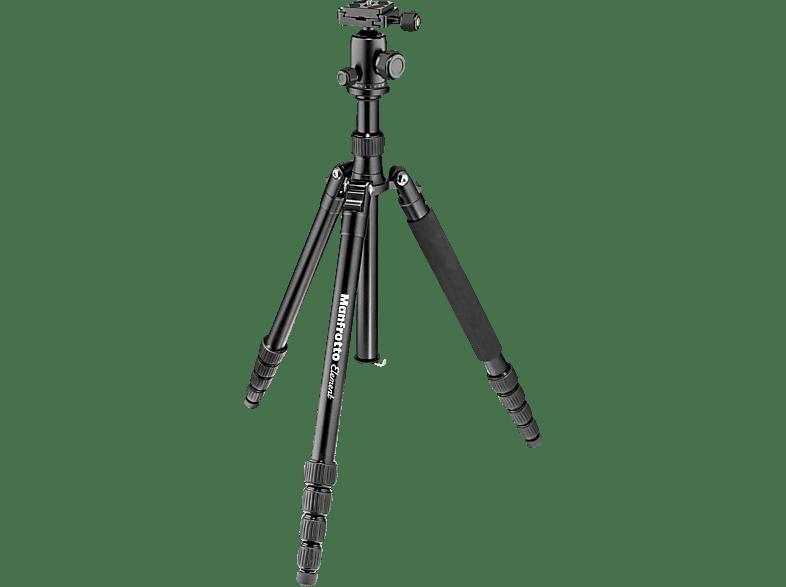 MANFROTTO MKELES5 Element Dreibein Stativ, Schwarz, Höhe offen bis 1340 mm