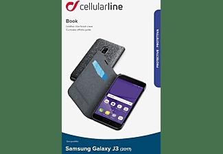 CELLULAR LINE BOOK ESSENTIAL, Bookcover, Samsung, Galaxy J3 (2017), Schwarz