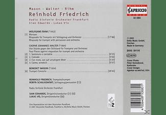 FRIEDRICH, RSO FRANKFURT / VIS, EDW - MASON: TRUMPET CONCERTO, RIHM: MARS  - (CD)