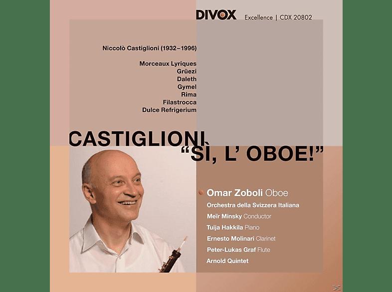 Tuija Hakkila, Ernseto Molinari, Anrold Quintet, Orchestra Della Svizzera Italiana, Omar Zoboli, Peter-lukas Graf - Si,L'Oboe! [CD]