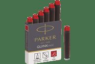 PARKER 1950408 TINTENPATRONE QUINK MINI 6 STÜCK Tintenpatrone Rot