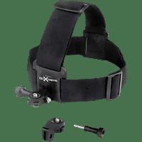 GOXTREME Kopf-Gurt, Halterung, Schwarz, passend für Actioncams