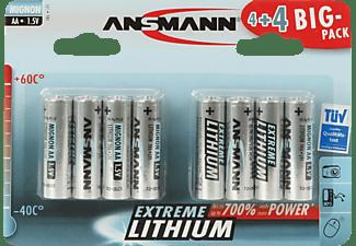 ANSMANN Extreme AA (Mignon) Batterie, Lithium, 1.5 Volt 8 Stück