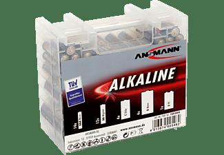 ANSMANN 35er AAA (Micro), AA (Mignon), C (Baby), D (Mono), E-Block (9V) Batteriebox, Alkaline, 1.2 Volt / 9 Volt 35 Stück