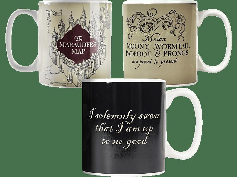 HALF MOON BAY Harry Potter XL Thermo- effekt-Tasse Marauder's Map Merchandise, white