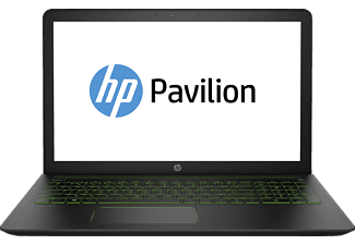 HP Pavilion Power, Gaming Notebook mit 15,6 Zoll Display, Core™ i7 Prozessor, 8 GB RAM, 1 TB HDD, 256 GB SSD, GeForce® GTX 1050, Schwarz/Grün