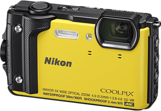 NIKON Coolpix W300 Digitalkamera Gelb, 16 Megapixel, TFT-LCD, WLAN