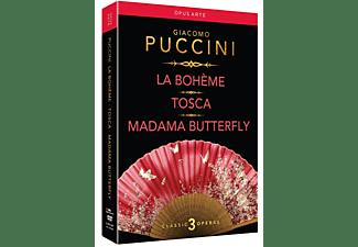 Diverse Oper - La Boheme/Tosca/Madama Butterfly  - (DVD)