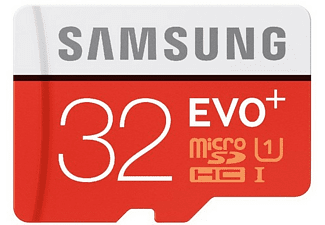 Tarjeta MicroSDHC 32 GB - Samsung EVO Plus MB-MC32GA, 32 GB, 95 MB/s, 20 MB/s, Blanco