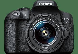 CANON EOS 750D Kit DFIN III Spiegelreflexkamera, Full-HD, 18-55 mm Objektiv (EF-S), Touchscreen Display, WLAN, Schwarz